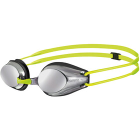 arena Tracks Mirror Goggles Kids silver-black-fluoyellow